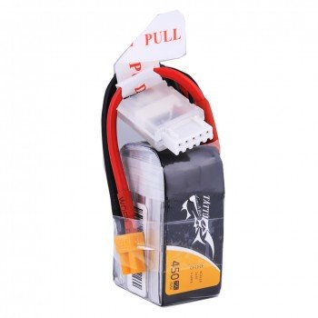 Tattu 14.8V 75C 4S1P 450mAh Lipo Battery Pack with XT30 Plug