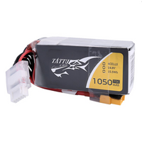 Tattu 1050mAh 14.8V 75C 4S1P Lipo Battery Pack - XT60