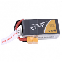 Tattu 850mAh 11.1V 45C 3S1P Lipo Battery Pack - XT60