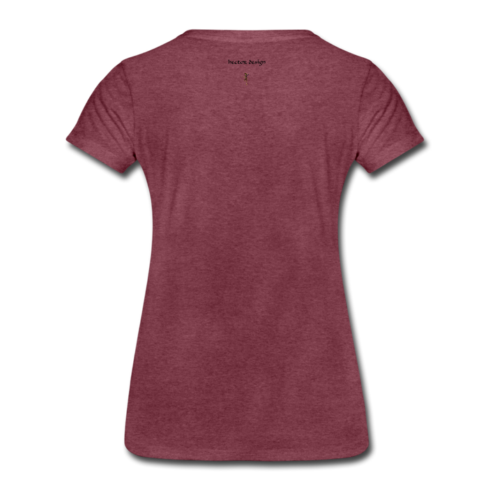 Women's Premium T-Shirt - Never Give Up - heather burgundy