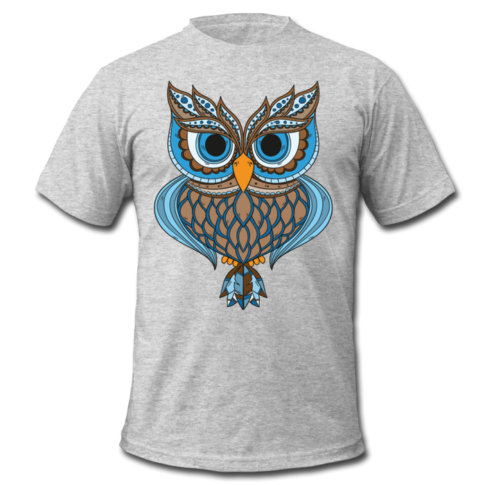 Men's  Jersey T-Shirt - Owl - heather gray