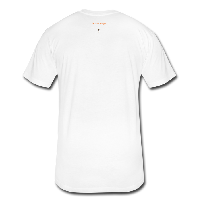 Fitted Cotton/Poly T-Shirt by Next Level - Done - white