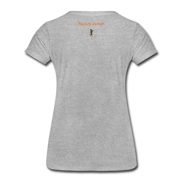 Women's Premium T-Shirt - Butterfly - heather gray