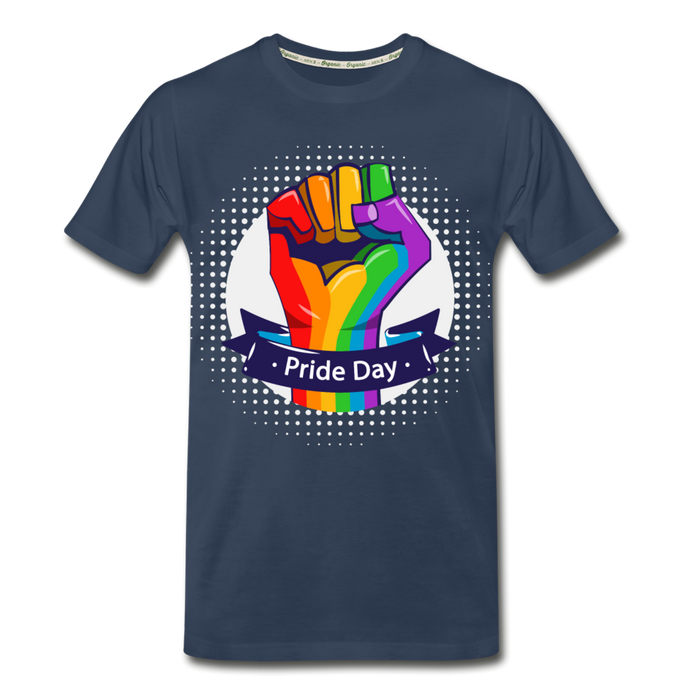 Men's Premium Organic T-Shirt - Pride Day - navy