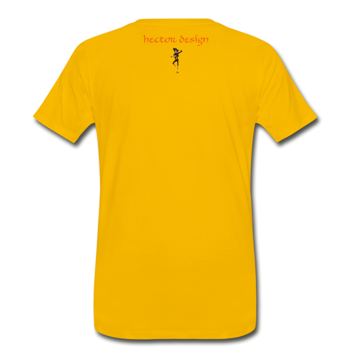 Men's Premium T-Shirt - Butterfly - sun yellow