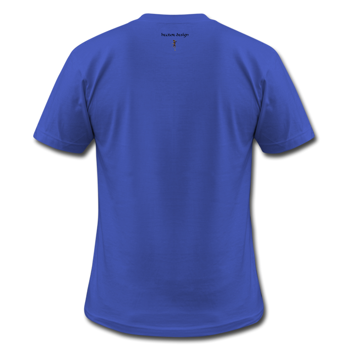 Men's  Jersey T-Shirt - Never Give Up - royal blue