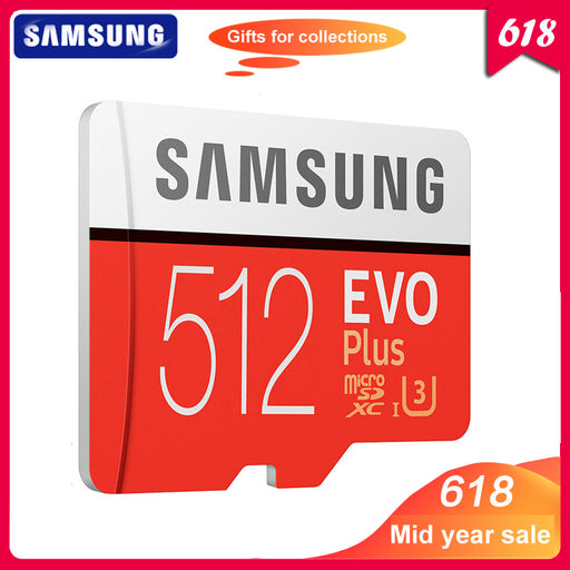 100% Original SAMSUNG Micro SD Card 512GB 100Mb/s Class10 U3 U1 SDXC Grade EVO+ Micro SD Card Memory TF Card Flash Card For UAV