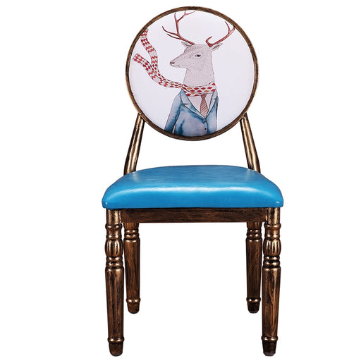 12%Retro Home Dining Chairs Hotel Reception Chairs Upholstered Chairs For Cafeteria/bedroom/living /patio/makeup/manicure
