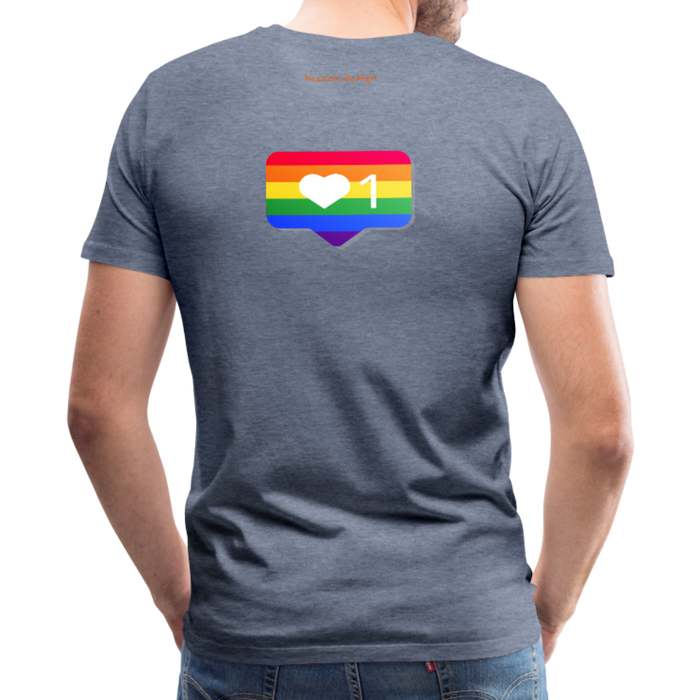 Men's Premium T-Shirt - Pride - heather blue