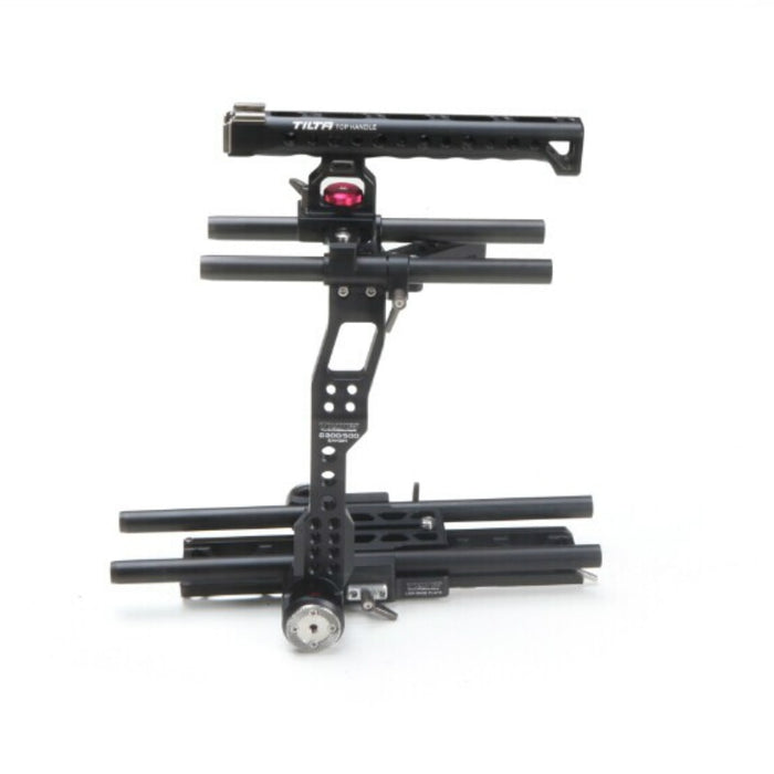 15MM DSLR Camera Cage Rig Kit for Canon C300/C500 Top Handle Baseplate Cage FF-T03 Follow Focus 4*4 carbon fiber Matte box