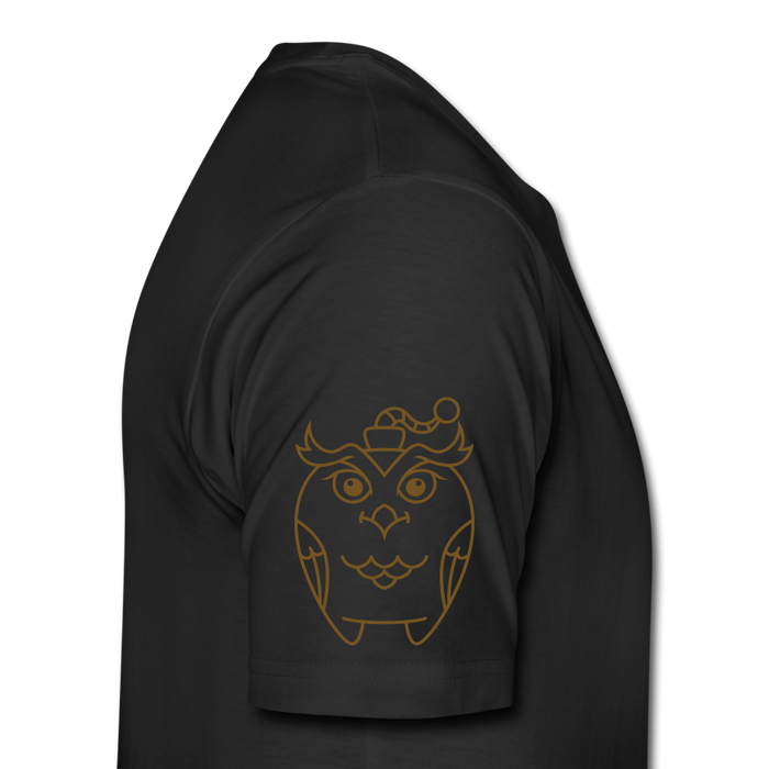 Men's Premium Organic T-Shirt - Owl - black