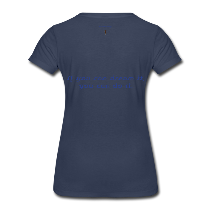 Women's Premium T-Shirt - Owl - navy
