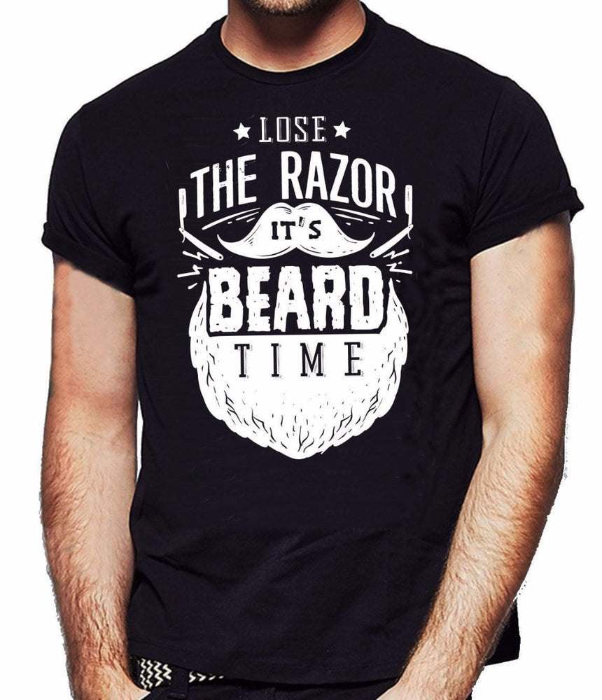2018 Fashion Fashion Classic Lose The Razer It's Beard Time Men's Funny Youth Round Collar Customized T-Shirts