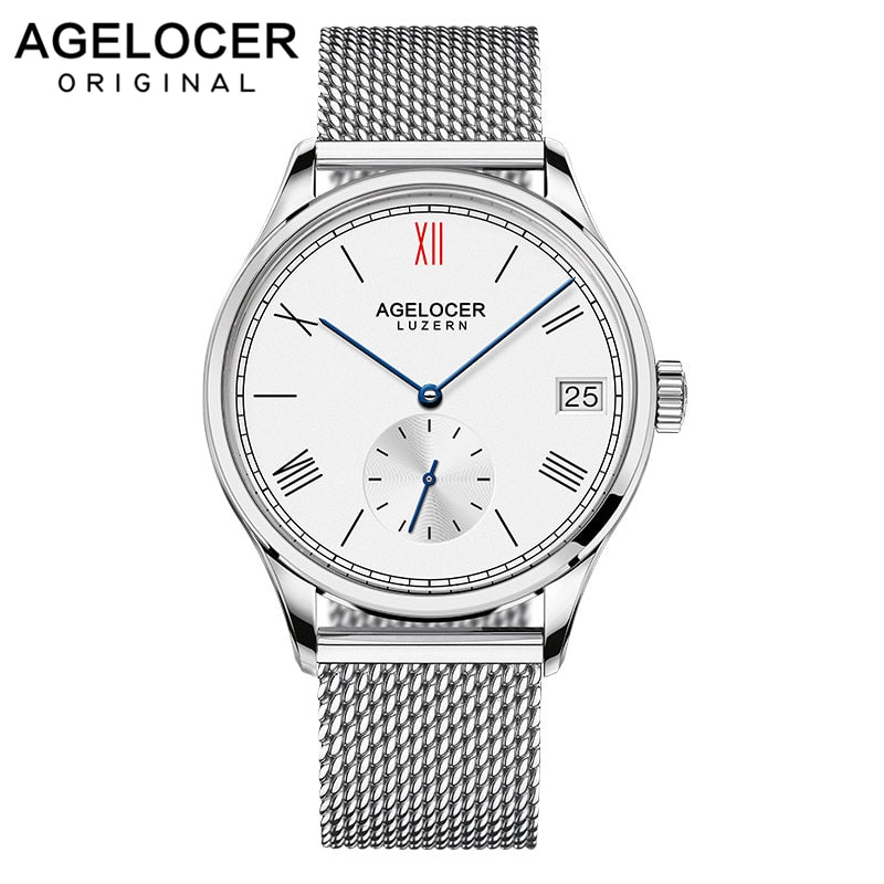 2019 AGELOCER Swiss famous brand male watches luxury mens automatic watch stainless steel bracelets gold unique design gift