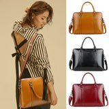 "2019 Crossbody Bags For Women PU Leather Laptop Business Men Tote Handbag 13"" 14"" 15"" Women's Portable Office Work Shoulder Bag"