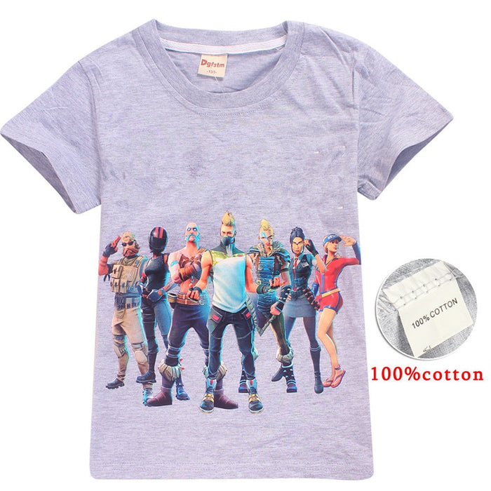 2019 Summer Cartoon 3D Print Fortnight  Kids T-shirt Battle Victory Royal Cloth For Kid Birthday Gift