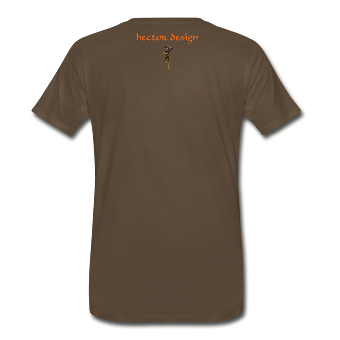 Men's Premium T-Shirt - Butterfly - noble brown