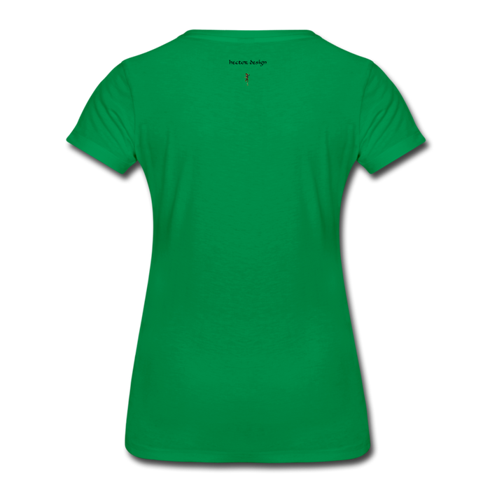 Women's Premium T-Shirt - Never Give Up - kelly green