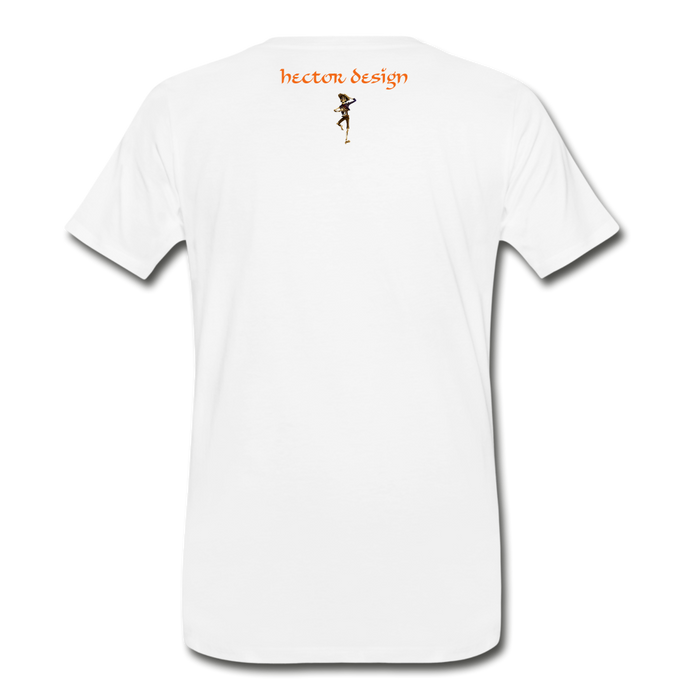 Men's Premium T-Shirt - Butterfly - white