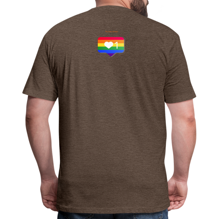 Fitted Cotton/Poly T-Shirt by Next Level - Love Wins Pride - heather espresso