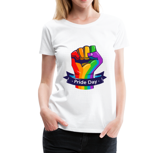 Women's Premium T-Shirt - Pride Day - white