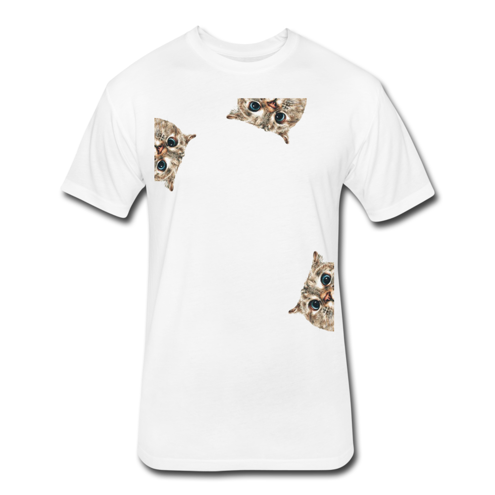Fitted Cotton/Poly T-Shirt by Next Level - Cat - white