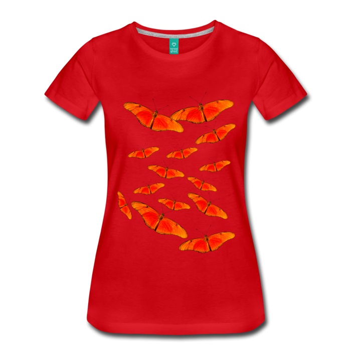 Women's Premium T-Shirt - Butterfly - red
