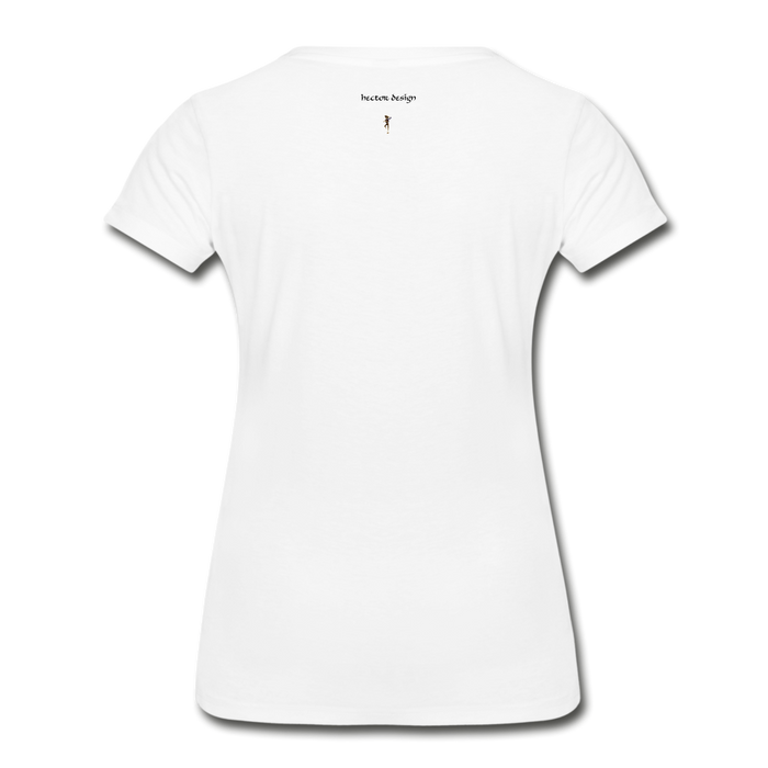 Women's Premium Organic T-Shirt - Never Give Up - white