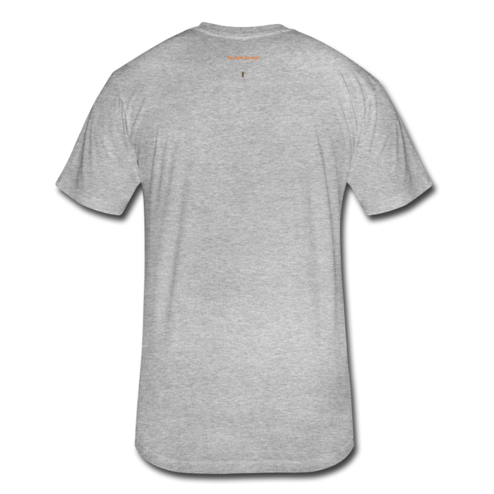 Fitted Cotton/Poly T-Shirt by Next Level - Done - heather gray