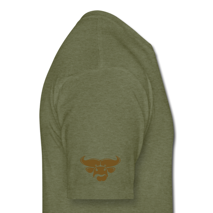 Fitted Cotton/Poly T-Shirt by Next Level - Cow - heather military green