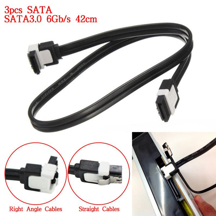 3 PCS 42CM/16.54In SATA Data Cables HDD SSD 6Gb/s Data Cable For ASUS Motherboard Computer Supplies Drop Ship