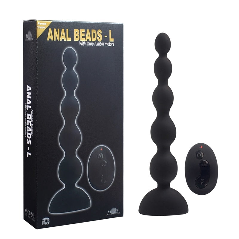 3 Speed 10 Mode Wireless Remote Control Vibrator 3 Motor Anal Beads Butt Plug G Spot Vibrator Prostata Sex Toys Dropshipping.