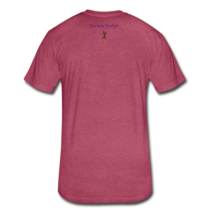 Fitted Cotton/Poly T-Shirt by Next Level - Cat - heather burgundy