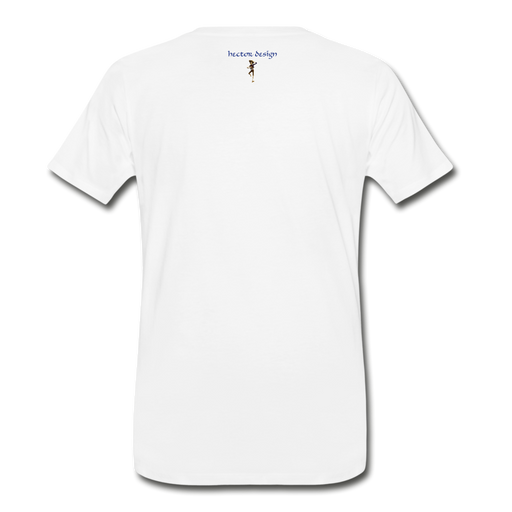 Men's Premium T-Shirt - Cow - white