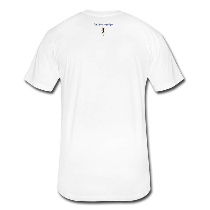 Fitted Cotton/Poly T-Shirt by Next Level - Cow - white