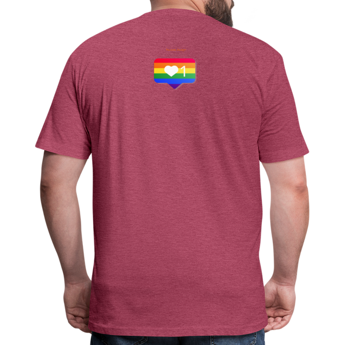 Fitted Cotton/Poly T-Shirt by Next Level - Love Wins Pride - heather burgundy