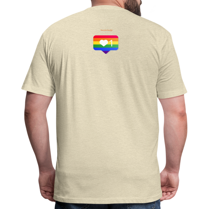 Fitted Cotton/Poly T-Shirt by Next Level - Love Wins Pride - heather cream