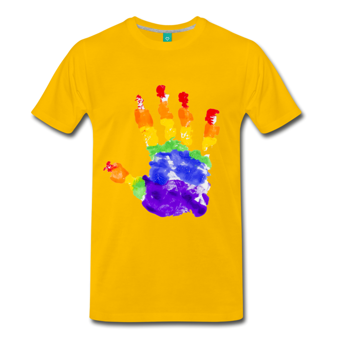 Men's Premium T-Shirt - Pride - sun yellow