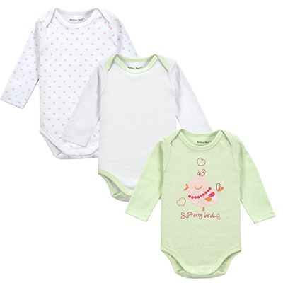 3pcs/lot Luvable Friends Baby Rompers Baby Pajamas Newborn Long Sleeve Underwear Cotton Pajamas Baby Boy Girl Winter Clothes