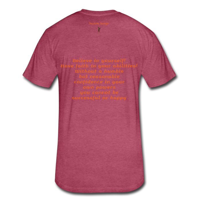 Fitted Cotton/Poly T-Shirt by Next Level - Rooster - heather burgundy