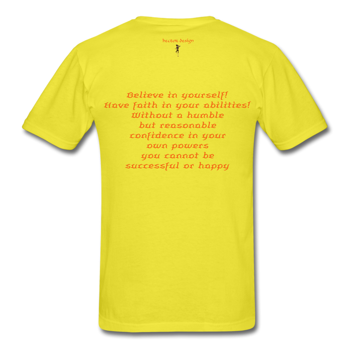 Men's T-Shirt - Rooster - yellow
