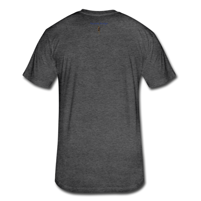 Fitted Cotton/Poly T-Shirt by Next Level - Cow - heather black