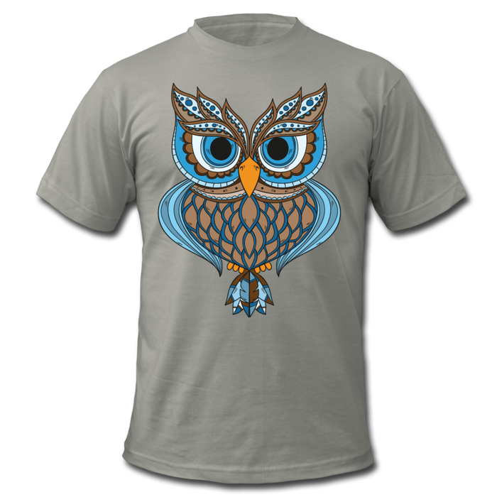 Men's  Jersey T-Shirt - Owl - slate