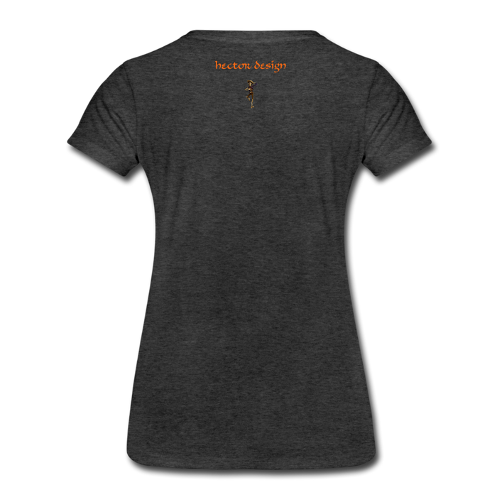 Women's Premium T-Shirt - Butterfly - charcoal gray