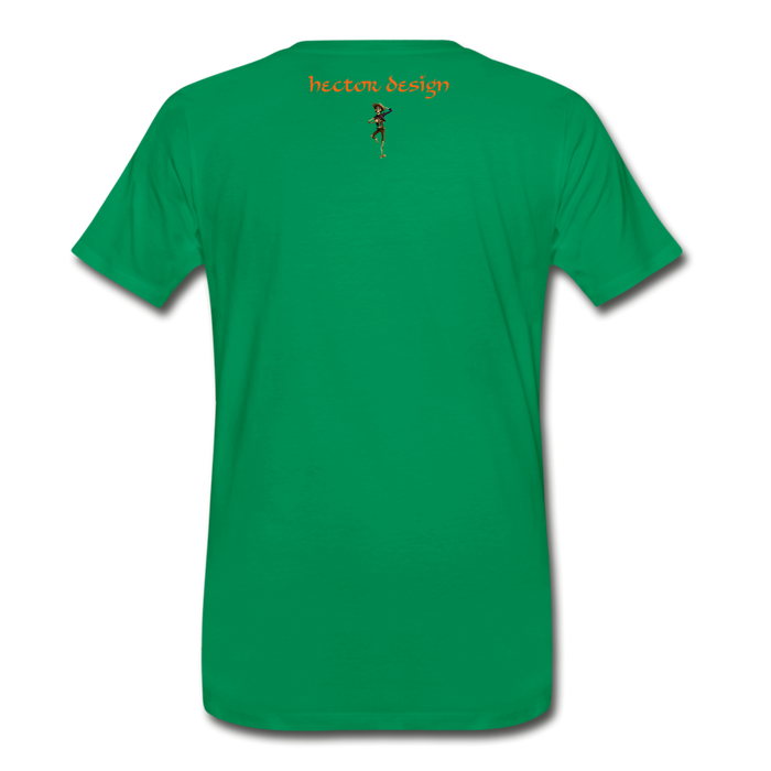 Men's Premium T-Shirt - Butterfly - kelly green
