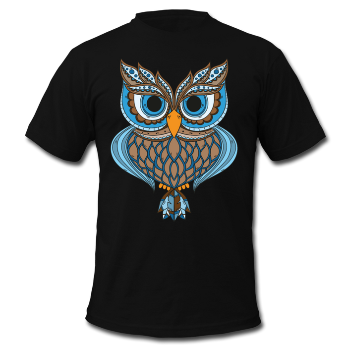 Men's  Jersey T-Shirt - Owl - black