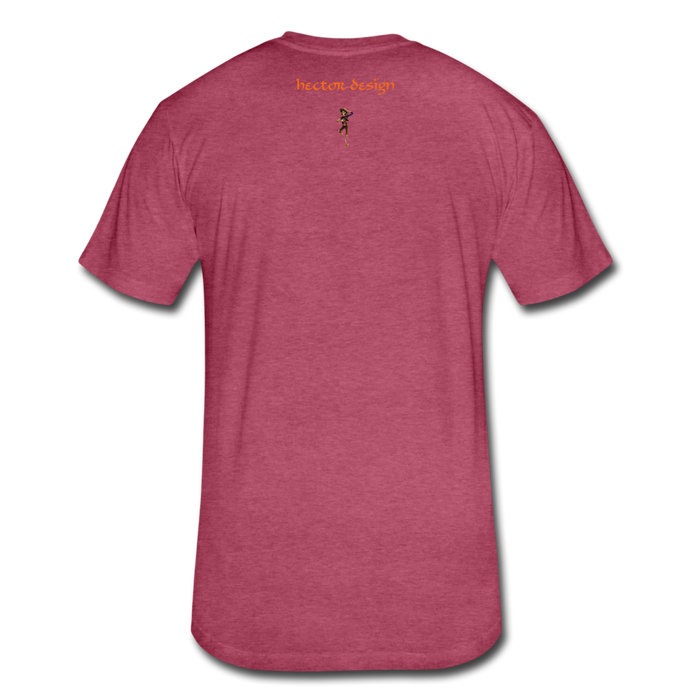 Fitted Cotton/Poly T-Shirt by Next Level - Fly - heather burgundy