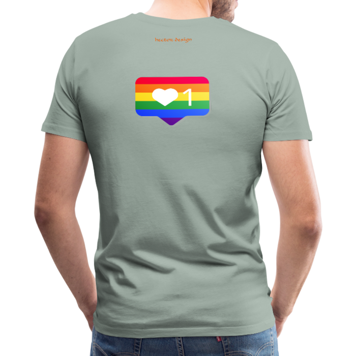 Men's Premium T-Shirt - Pride - steel green