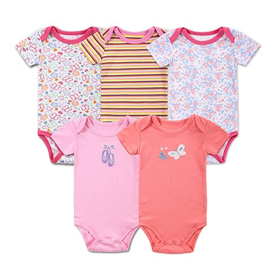 5 Pieces Baby Bodysuits Mommy Loves Me Print Body Baby Boy Girl Clothing Sets Newborn Baby Clothes Products Jumpsuit