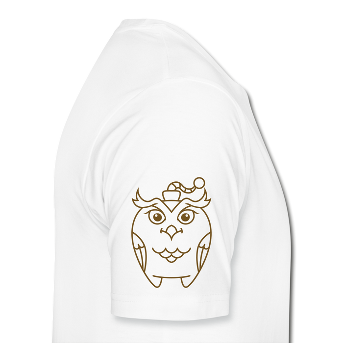 Men's Premium Organic T-Shirt - Owl - white